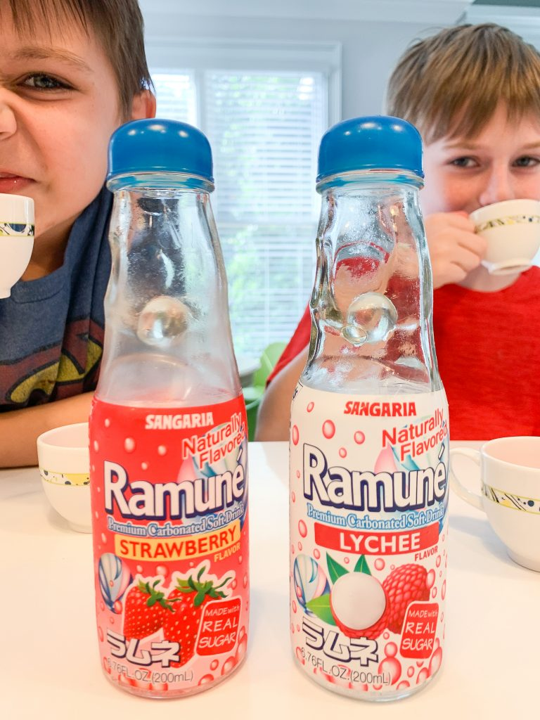 kids drinking ramune