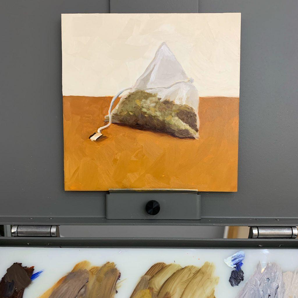 tea bag painting